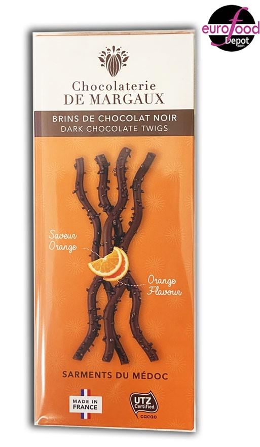 Sarments Dark chocolate twigs w/ orange Chocolaterie de Margaux