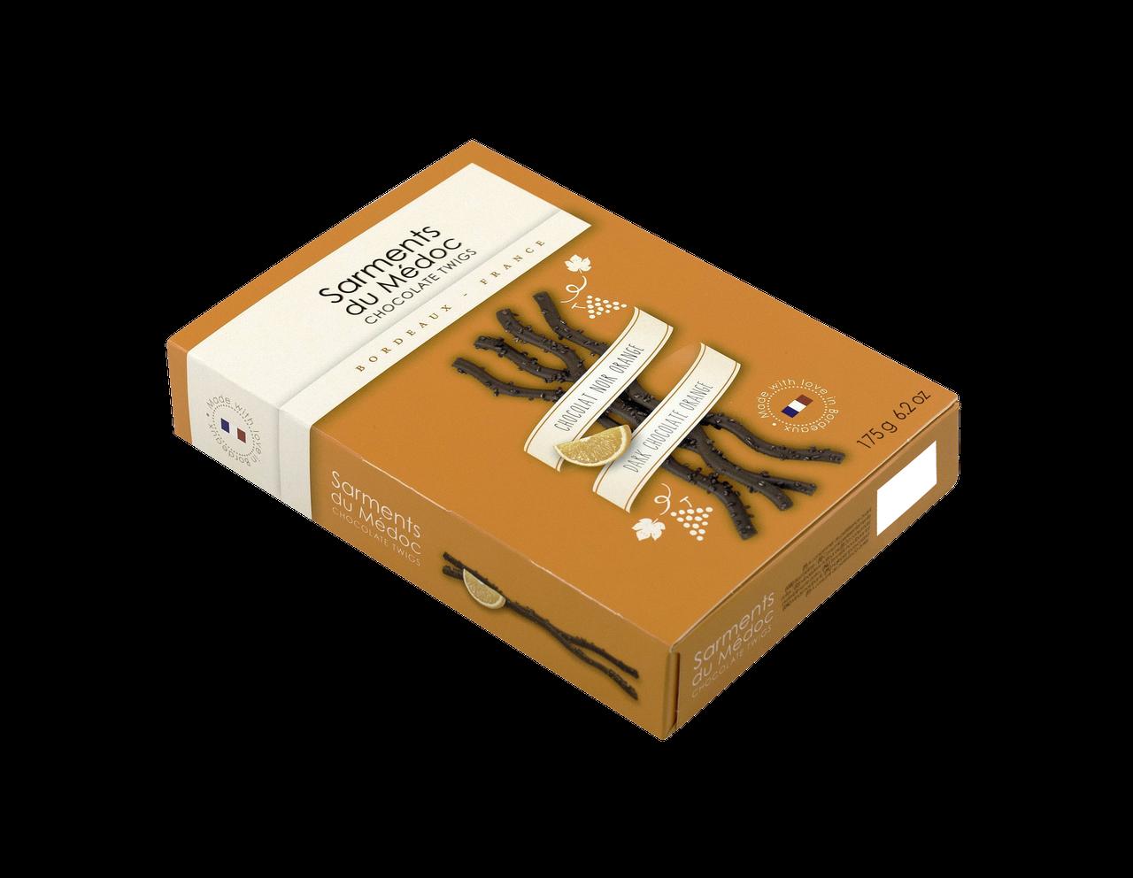 Révillon Sarments du Médoc / dark Chocolate with Orange flavor (2.1 oZ/ 60g)