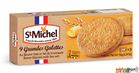 Large cookies with sea salt butter from St Michel (France)