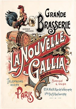 Tea Towel Biere Gallia by Torchons & Bouchons