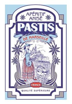 Tea Towel Pastis Marseille by Torchons & Bouchons