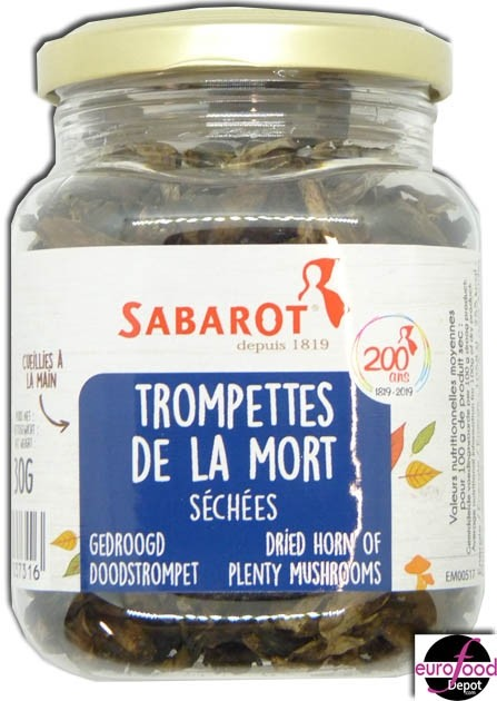 Dried Black Trumpet mushrooms - Trompettes de la mort (1oz/30g)