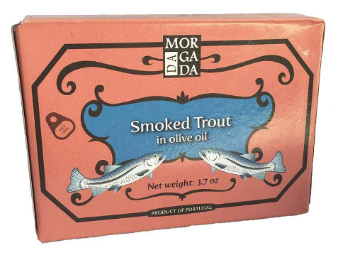 Smoked Trout Fillets by Da Morgada (3.7oz/100g)