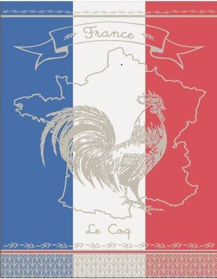 Vive la France Tri-color Tea Towel 100%Cotton