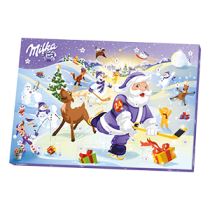 Chocolate advent calendar by Milka