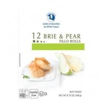 12 Brie & Pear Fillo Rolls