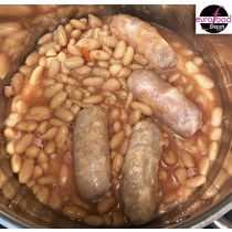 Sausages and Beans Casserole Fabrique Delices Ready Meal -