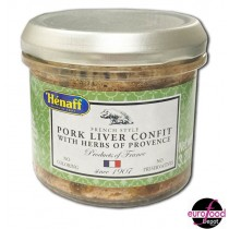 Hénaff Pork liver confit with Provence herbs glass jar (90g/3.2oz)