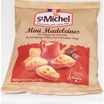 St Michel French Mini Madeleines with Chocolate chips - (6.17oz/175g)