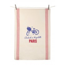 "Dish Towel ""Balade a bicyclette"" (21.6"" x 31.4"")"
