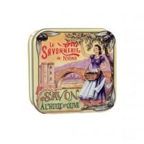 Lavender Soap in Vintage Tin Savonnerie de Nyons (3.5oz/100g)