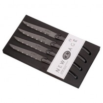 New Age 4 Piece Steak Knife Black  by Jean Dubost / Laguiole
