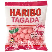 French Haribo Fraises Tagada PINK - Tangy Strawberry Flavored Gums (3.5oz/100g)