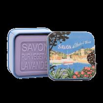 Marina Lavender Soap in Vintage Tin Savonnerie de Nyons (3.5oz/100g)