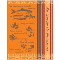 Fish Soup Tea Towel 100% Cotton by Sud Etoffes