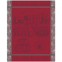 Wine of The World Tea Towel 100% cotton by Sud Etoffes