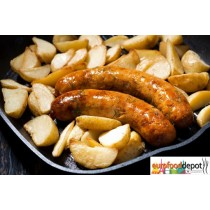 Wild Boar Sausage with Apples & Cranberries Fabrique Delices- 4 Link Pack - All natural - 1 Lb