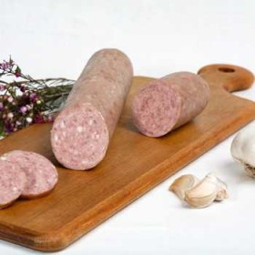 Garlic Sausage  Fabrique delices (0.75 Lb)