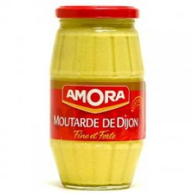 Amora Mustard Moutarde de Dijon Fine French Strong Dijon Mustard (15.5 oz/440g) - Large Size
