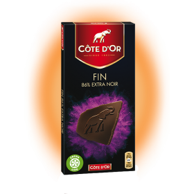 Cote D'Or 86% Belgian Dark Chocolate Confection (3.52oz/100g)