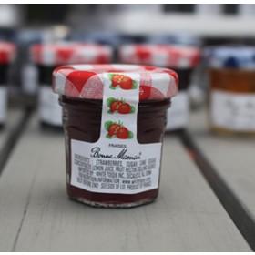 2 Bonne Maman Strawberry Preserves - Mini Jar Jam (1oz/28g X2)