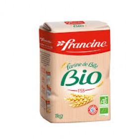 Francine Farine de Blé Bio  - Organic French Wheat Flour (2.2 lbs/1Kg)