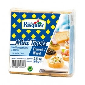 Mini Toast Pasquier French cracker (80g)  Palm Oil Free