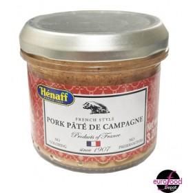 Hénaff Pork countryside pâté glass jar (90g/3.2oz)