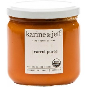 Organic Carrot Puree Vegan by Karine and Jeff (350gr - 12.3 oz)