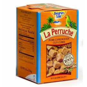 Sugar - La Perruche - Pure Cane Rough Cut Brown Sugar Cubes - (8.8 Oz/250g)