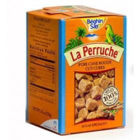 Sugar - La Perruche - Pure Cane Rough Cut Brown Sugar Cubes - (8.8 Oz/250g)