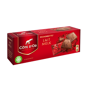 Cote d'Or milk chocolate squares (24 pieces per box)