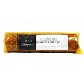 Honey Nonettes filled with orange jam Abeille Diligente 7oz (200g)