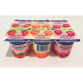 Petits Suisse Montebourg with fruits (6x60g / 6x2.11oz)