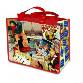 French Patchwork Paris Shopping bag
