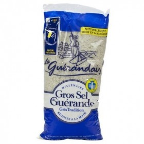 Le Guerandais Grey Coarse Salt Bag - Sel - (2.2 lbs/1Kg)