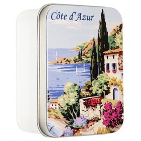 Lavender Soap by LeBlanc in a vintage tin Cote d'Azur 3.5oz-100g