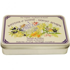 Guest Soap Assortment by LeBlanc in a vintage tin 6x25g