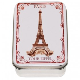 Rose Soap by LeBlanc in a vintage tin Eiffel Tower 3.5oz-100g