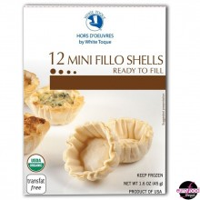 12 Organic Mini Shells - Ready to Fill (45g/1.6oz)