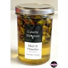 Acacia honey w/ pistachios from Abeille Diligente