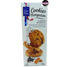 Cookies with nougatine and chocolate chips, Hazelnut flavored  (200g) Filet Bleu