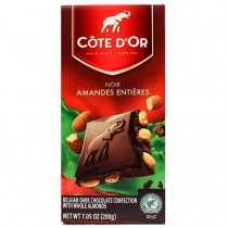 Cote d'Or Belgian dark Chocolate With Whole Almonds (7oz/180g)