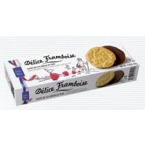 Fine Raspberry Biscuit with dark chocolate  (4.58oz/130g) Filet Bleu