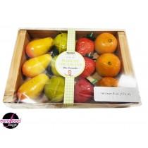 Assorted fruit-shaped marzipan in basket Maffren (170g-6 oz)