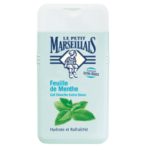 French Shower Cream Extra Gentle - Le Petit Marseillais - Mint Leaf (8.8oz/250ml)