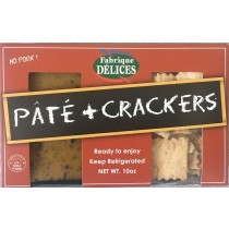 Pâté & crackers snack pack - 1 truffle mousse 7oz + organic flatbread crackers 3oz