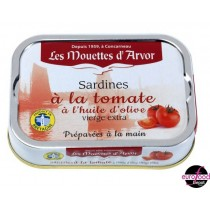 French Prenium sardine in Extra Virgin Olive Oil and Tomatoes - Mouettes D'Arvor