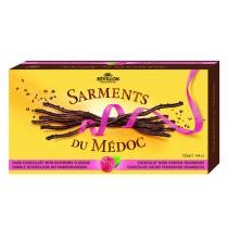 Sarments Dark chocolate twigs w/ raspberry  Chocolaterie de Margaux