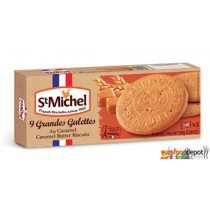Large cookies Caramel from St Michel (France)-Galettes bretonnes